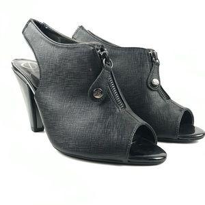 J.Reneé Viento Textured Matte Black Heel Bootie